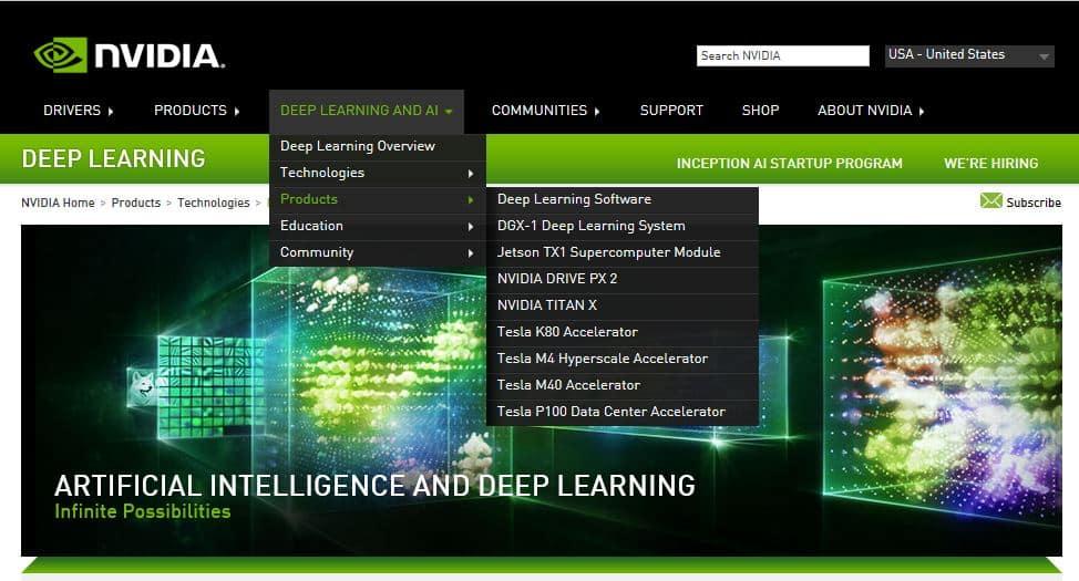 nvidia website ai computing