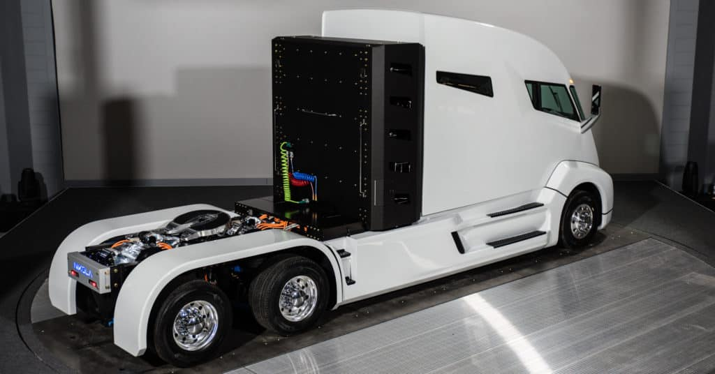 The Nikola One is the world's first fuel cell 18-wheeler.